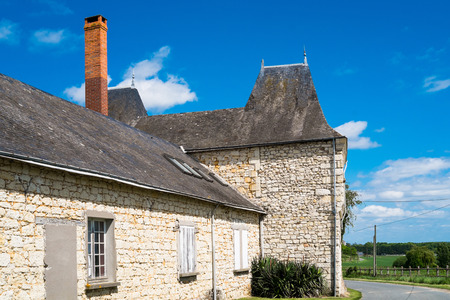pictoresque: Old french house in the countryside of Angers, France
