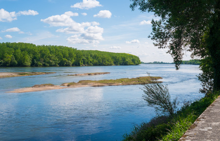 Loire river close to Angers, France
