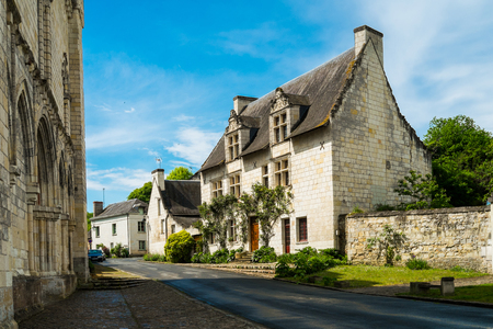 pictoresque: Typical french house in the village of cunault, Loire region, France