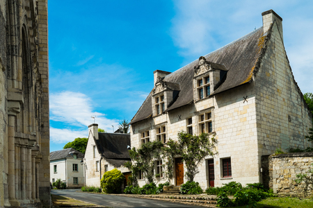 bucolic: Typical french house in the village of cunault, Loire region, France