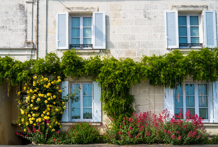 loire: Typical french house in the Loire region, France