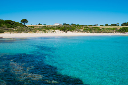 Bobba beach in San Pietro island, Sardinia, Italy Stock Photo