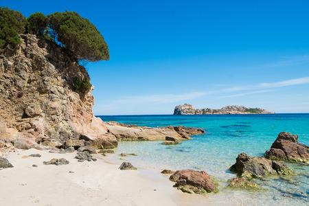 Strand von Porto Tramatzu in Teulada, Sardinien, Italien