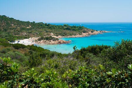 principe: Playa del Príncipe en la costa esmeralda en el norte de Cerdeña, Italia