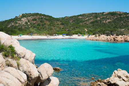 Playa del Principe beach on Emerald coast in North of Sardinia, Italy