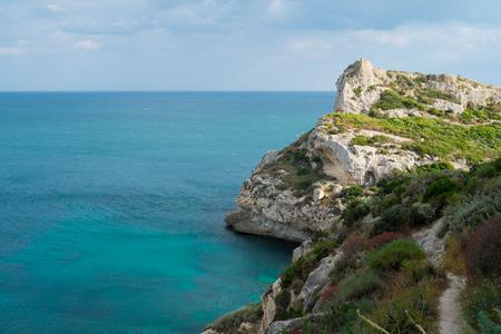 promontory: Promontory of Sella del Diavolo in Cagliari, Sardinia, Italy Stock Photo