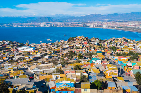 Panorama of La Serena and Coquimbo, Chile Stock Photo