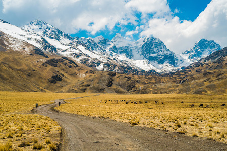 andes mountain: View of Condoriri mountain in the Andes, La Paz, Bolivia