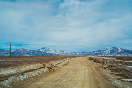 nevado: Road in Parque Nacional Nevado Tres Cruces, Chile