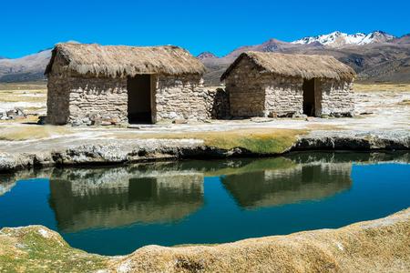Hot springs in Sajama National Park, Bolivia Stock Photo