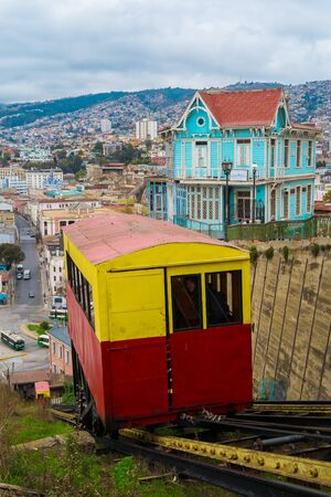 valparaiso: Funicolar in Valparaiso, Chile