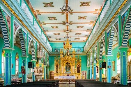 gold mining: Old wooden church in Zaruma old gold mining, Ecuador