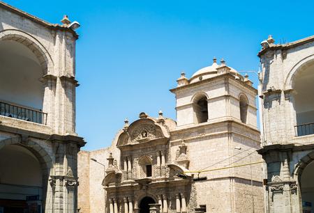 la compania: La Compania church in Arequipa, Peru