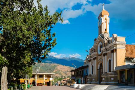 Kirche und sqaure von Vilcabamba, Ecuador
