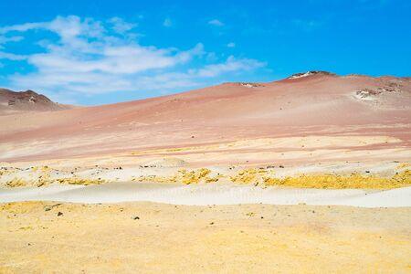 deserted: Deserted landscape in Paracas national Reserve, Peru