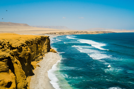 reserve: Beach in Paracas National Reserve, Peru Stock Photo