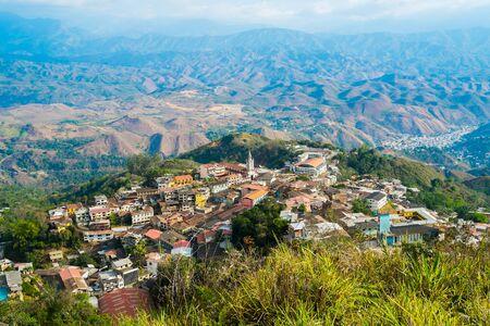 gold mining: View of town of Zaruma old gold mining, Ecuador Stock Photo