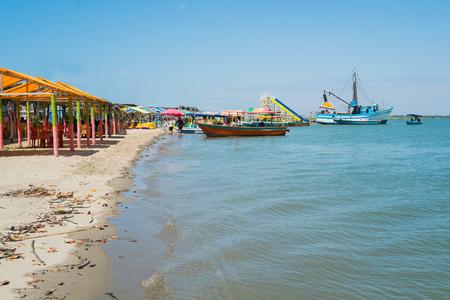 pizarro: Isla Hueso de Ballena in Puerto Pizarro, Tumbes, Peru Stock Photo
