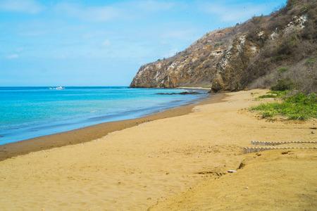 Beach of Isla de la Plata, Puerto Lopez, Ecuador