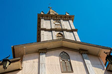 pictoresque: Old wooden church in Zaruma old gold mining, Ecuador