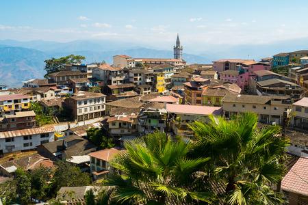 pictoresque: View of town of Zaruma old gold mining, Ecuador Stock Photo