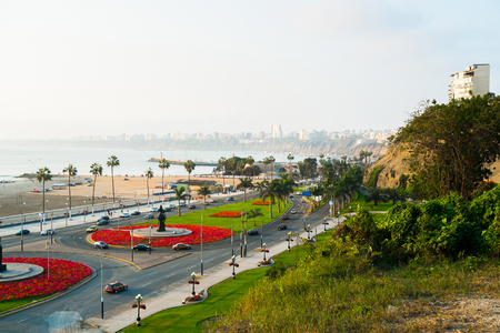 lima: Waterfront of Barranco, Lima, Peru Stock Photo