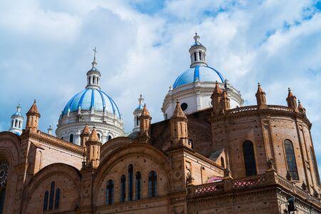 cuenca: Architecture detail of cathedral of Cuenca, Ecuador