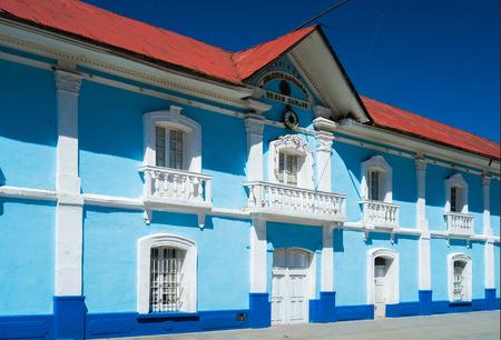 Colonial buiding in Puno downtown, Peru Editoriali