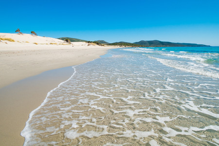 Porto Pino beach in Sant'Anna Arresi, south coast of Sardinia, Italy Archivio Fotografico