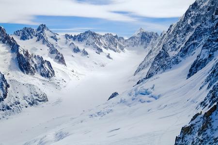 aiguille: View on Aiguille de Grand Montets in winter, Mont Blanc, Argentiere, France