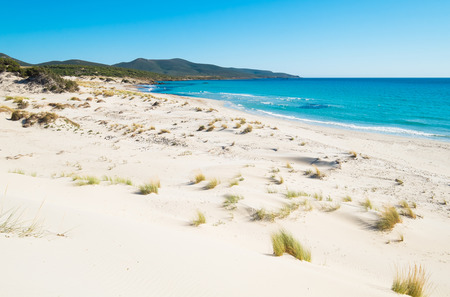 Porto Pino beach in SantAnna Arresi, south coast of Sardinia, Italy Stock Photo