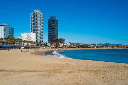 seafronts: Beach front in Barcelona, Spain