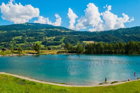 blanc: Lac de Passy near Chamonix Mont Blanc, France