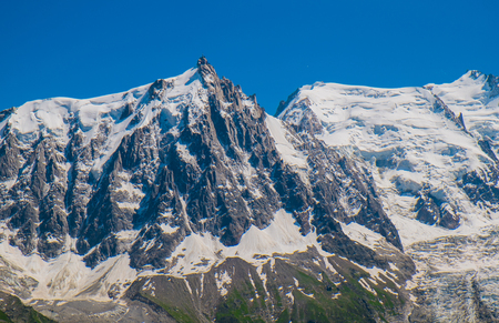View of Mont Blanc from Plan Praz, Chamonix, France
