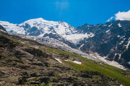 Vue du Mont Blanc de Nid d Aigle, Chamonix, France Banque d'images - 66939356