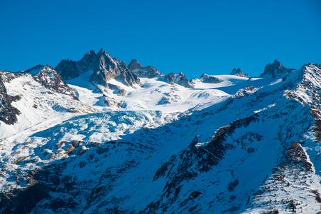 View of glacier de Tour on the Mont Blanc, Chamonix, France