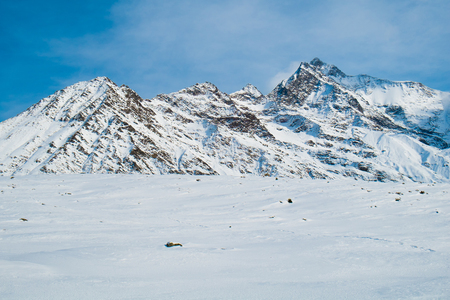The Mont Blanc of Miage from les chalets de Truc, Les Contamines, Chamonix, France Standard-Bild