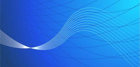 Vector abstract blue hi-tech background Vector