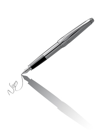 nickel: Vector pen signing contract