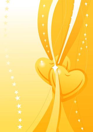 Valentine golden wallpaper 1 Vector