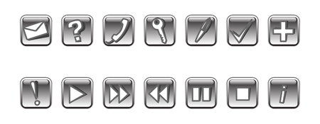 Set of 14 vector icons#2. Grayscale Vector