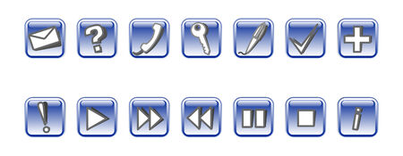 Set of vector icons #3. Blue Vector