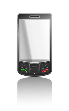 gsm phone: Vector realistic illustration of a black PDA with black buttons