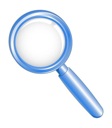 a round of inspection: Vector illustration of a blue search icon Illustration