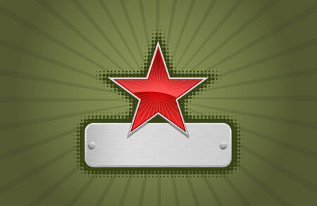 Vector red and green star frame Vector
