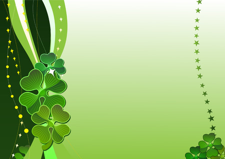 Decorative vector background with four-leafed clover Vector
