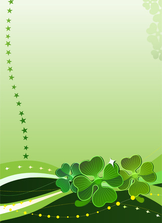 Decorative vector background with four-leafed clover 2 Stock Vector - 2640301