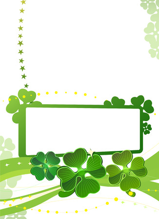 Blank with green four-leafed clover Stock Vector - 2640302