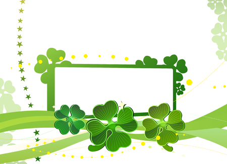 Blank with green four-leafed clover 2 Vector