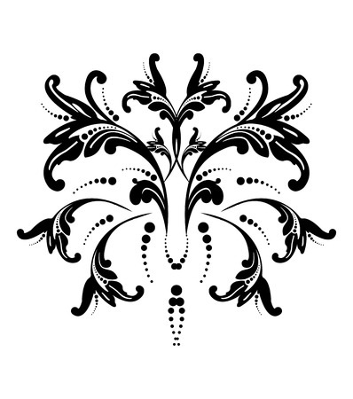 Vector illustration of an abstract flower  Vector
